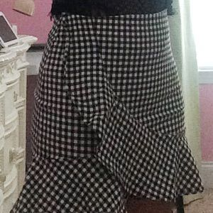 Gingham pencil skirt